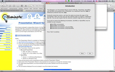 http://soe-media.uaf.edu/Podcasts/2008-11-17/Converting_powerpoint_to_whiteboard_files-multi.mov