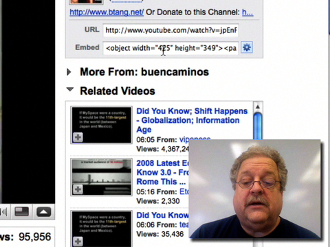 http://soe-media.uaf.edu/Podcasts/2008-12-11/Embedding_YouTube_Videos_into_Blackboard_or_Blogs-multi.mov